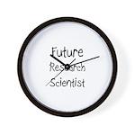 Future Research Scientist Wall Clock