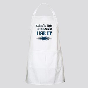 Right To Remain Silent BBQ Apron