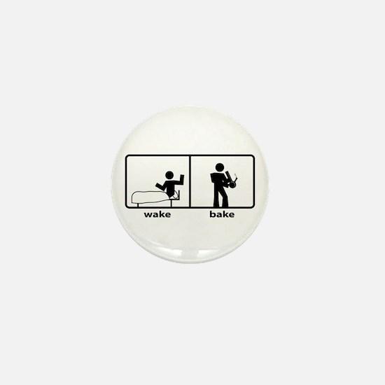 Wake & Bake Mini Button