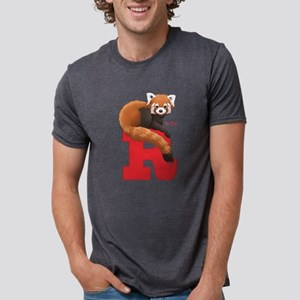 R Is For Red Panda Mens Tri-Blend T-Shirt