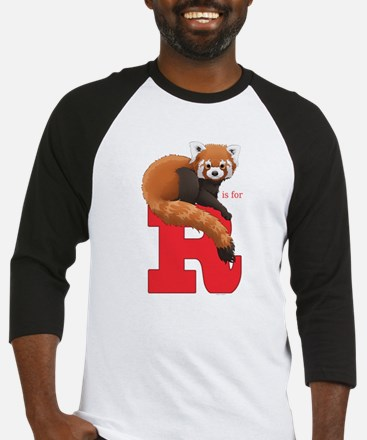 R is for Red Panda Baseball Jersey