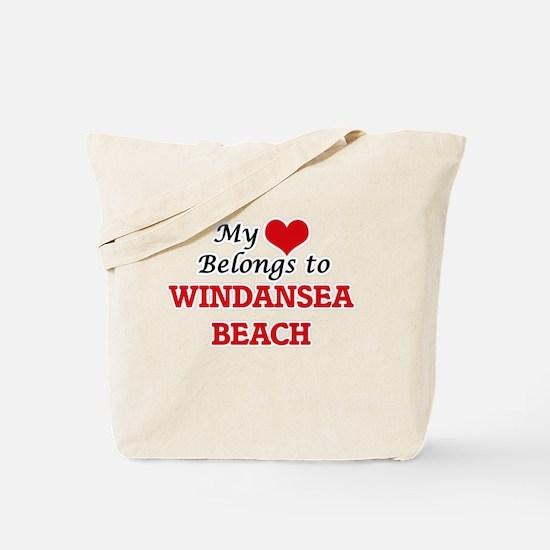 My Heart Belongs to Windansea Beach Calif Tote Bag