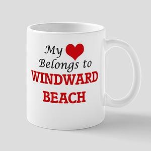 My Heart Belongs to Windward Beach New Jersey Mugs