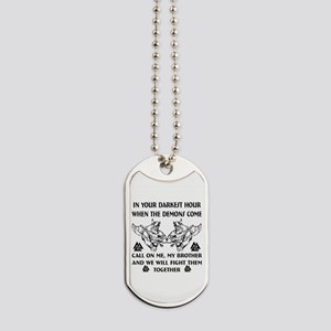 We Will Fight Them Together Dog Tags
