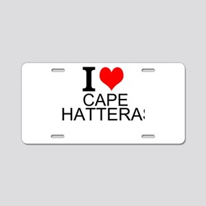 I Love Cape Hatteras Aluminum License Plate