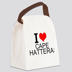 I Love Cape Hatteras Canvas Lunch Bag