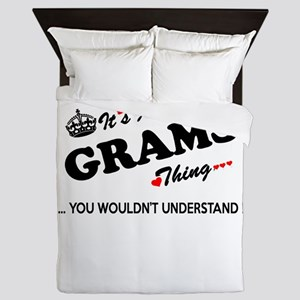 GRAMS thing, you wouldn't understand Queen Duvet