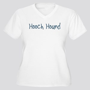 Hooch Hound Women's Plus Size V-Neck T-Shirt
