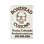 BoneHead Customz sign Rectangle Magnet (10 pack
