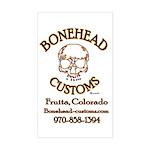 BoneHead Customz Garage Rectangle Sticker