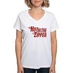 Hot in the Zipper Women's V-Neck T-Shirt
