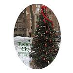 Tudor City Place Christmas Tree 3 Oval Ornament