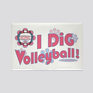 I Dig Volleyball Rectangle Magnet