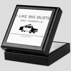 Big Cop Busts Keepsake Box