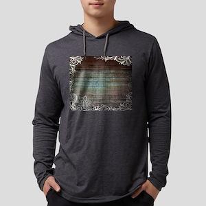 modern lace woodgrain country Long Sleeve T-Shirt