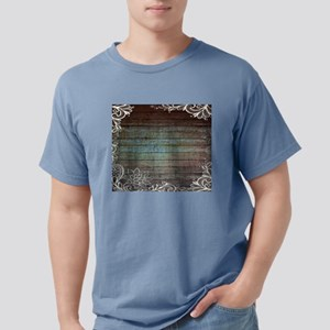 modern lace woodgrain country decor T-Shirt