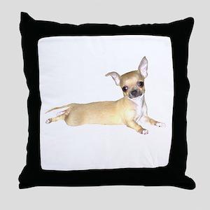 Tan Chihuahua Throw Pillow