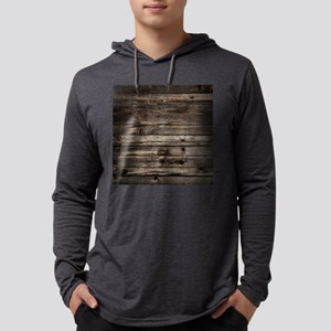 rustic primitive grey barn woo Long Sleeve T-Shirt