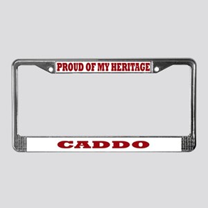 Proud of My Caddo Heritage License Plate Frame
