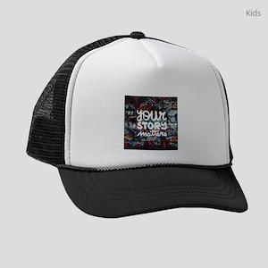 your story matters graffiti hip h Kids Trucker hat