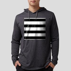 modern black white stripes Long Sleeve T-Shirt