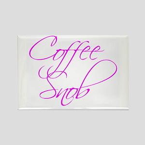 """Coffee Snob"" - Rectangle Magnet"