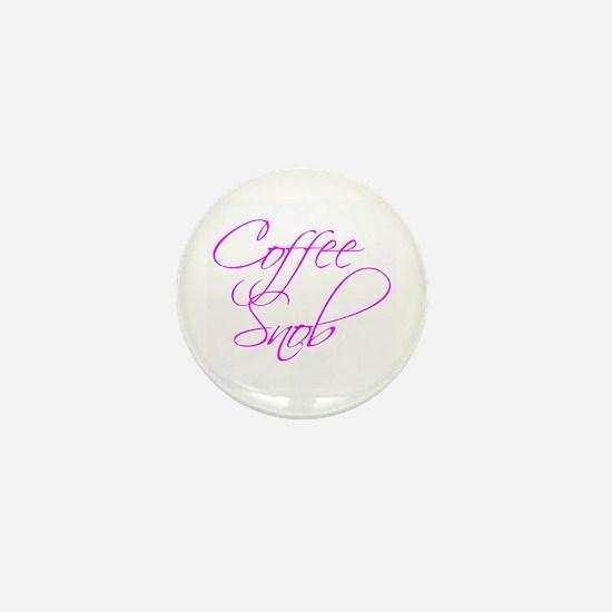 """Coffee Snob"" - Mini Button"