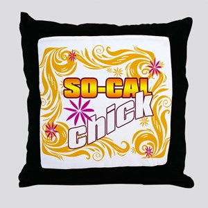 So Cal Chick Throw Pillow