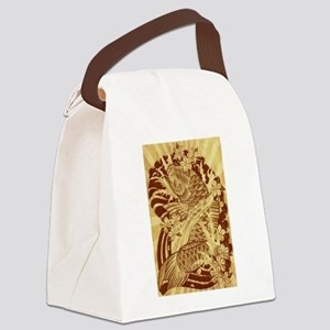 vintage japanese koi fish Canvas Lunch Bag