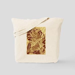 vintage japanese koi fish Tote Bag