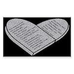 Ten Commandments - Decalogue – Bible (black) Stick