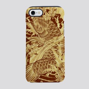 vintage tattoo japanese koi iPhone 8/7 Tough Case