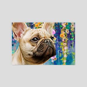 French Bulldog Painting 4' X 6' Rug