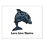 bChill Love Live Thrive Small Poster