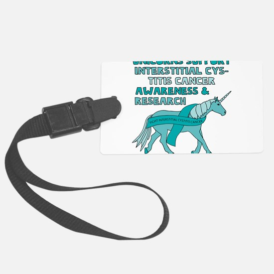 Unicorns Support Interstitial Cy Luggage Tag