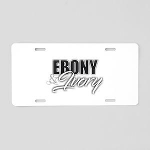 Ebony and Ivory Aluminum License Plate
