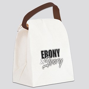 Ebony and Ivory Canvas Lunch Bag