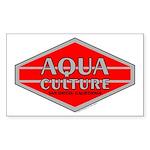 Aqua Culture Rectangle Sticker