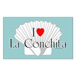 La Conchita Rectangle Sticker