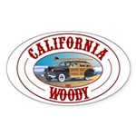 California Woody Oval Sticker