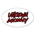 Unknown Anomaly Oval Sticker