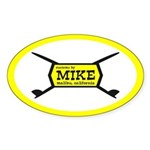 Mike Oval Sticker