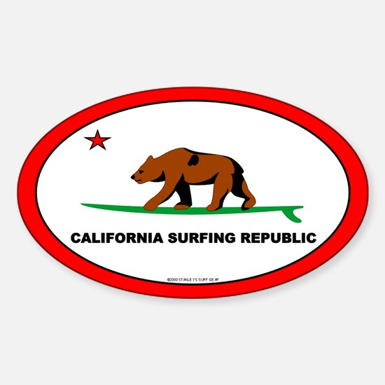 California Bear Oval Decal