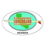 Cali Longboard Assoc Oval Sticker