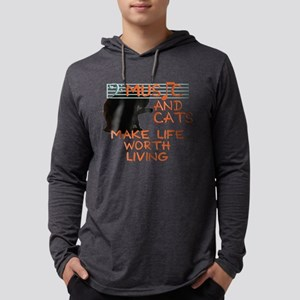 music and cats Long Sleeve T-Shirt