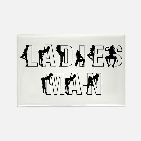 Ladies Man Rectangle Magnet