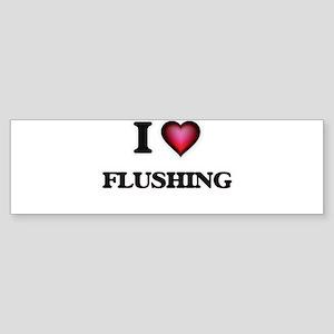 I love Flushing Bumper Sticker