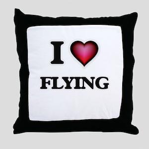 I love Flying Throw Pillow