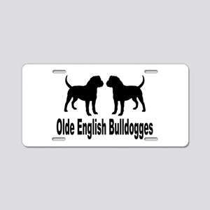 Olde English Bulldogges Aluminum License Plate