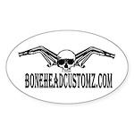 BoneHead Customz Headers skull Oval Sticker